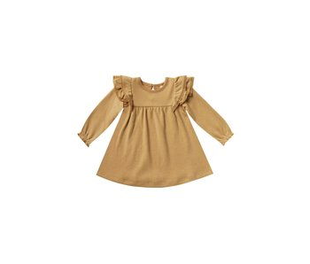 Quincy Mae Quincy Mae Long sleeve Flutter Dress
