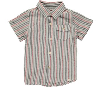 Me & Henry Red/Black stripe s/s shirt