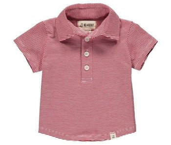 Me & Henry Me & Henry Red/White stripe polo size 6-12M