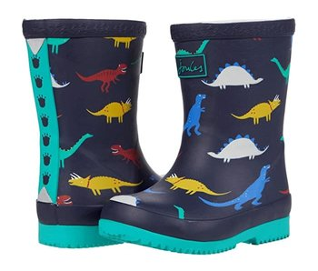 Joules Joules Baby Welly Print Navy Dinos -size 5