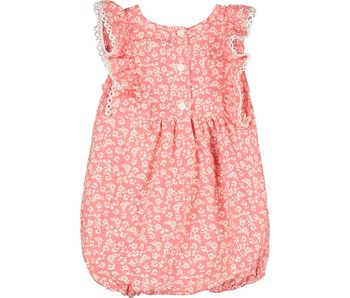 Vignette Vignette Poppy Bubble Romper in Coral