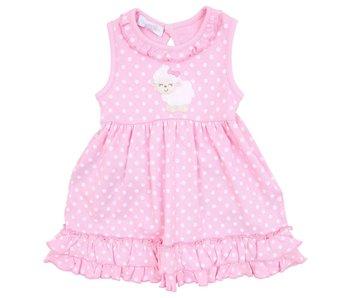 Magnolia Baby Magnolia Baby Little Lamb Applique Dress Set- size 3M