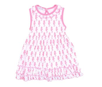 Magnolia Baby Magnolia Baby Seahorse printed dress set -size 3M