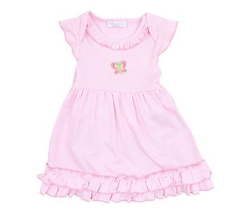 Magnolia Baby Magnolia Baby Tiny Butterfly Embroidered Dress Set -size 3M