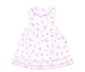 Magnolia Baby Magnolia Baby Tres Chic Printed Ruffle Dress set -size 6M