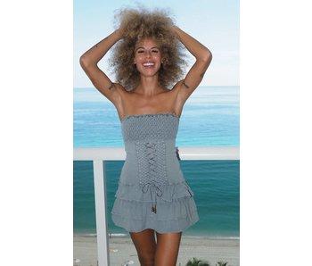 Cotton Natural Cotton Natural Bora Bora Fossil Gray Dress