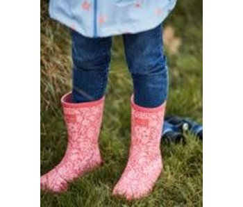 Joules Joules Roll up flexible floral printed rain boots