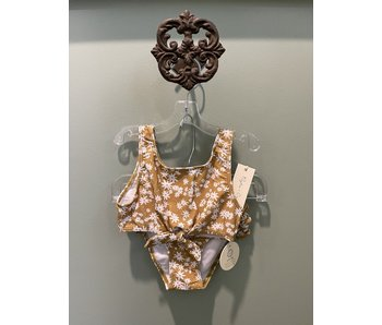 Rylee + Cru Rylee + Cru Floral knotted bikini UPF 50 size 4-5Y