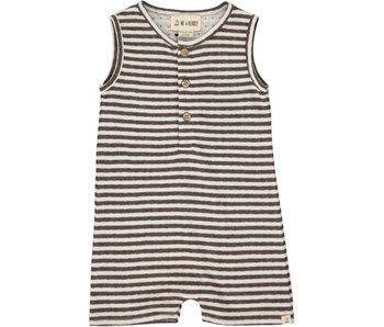 Me & Henry Me & Henry Brown Striped Jersey Playsuit -size 12-18M