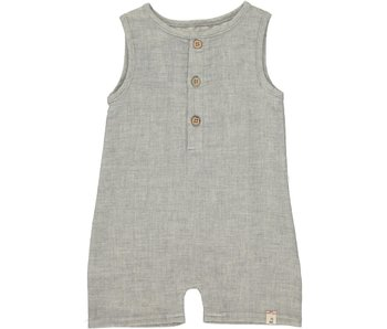 Me & Henry Me & Henry Gray woven playsuit -size 18-24M