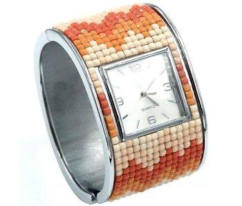 Mad Man Coral Mosaic Hinged cuff watch