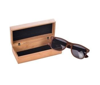 Mad Man Wood Wayfarers Sunglasses with Bamboo Case