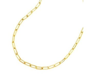 Maya J 14K Gold Plated Brass Large Paper Clip Chain 18""
