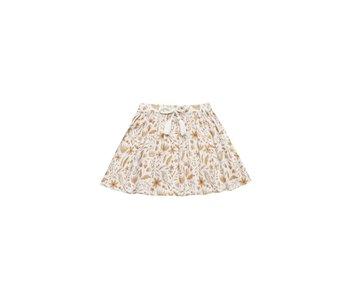 Rylee + Cru Rylee + Cru Garden Bird Mini Skirt Ivory