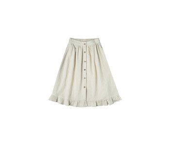 Rylee + Cru Rylee + Cru Striped Oceanside Skirt -Sage/Ivory