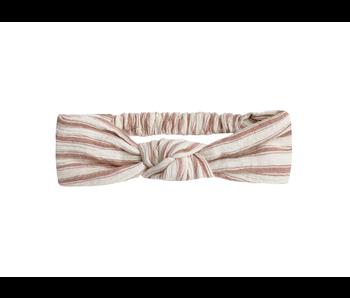 Rylee + Cru Rylee + Cru Striped Turban -Natural