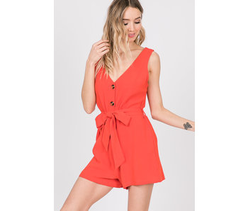 EE:Some Sleeveless button front romper
