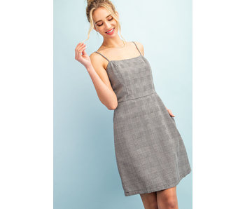 EE:Some Plaid Print Mini Dress