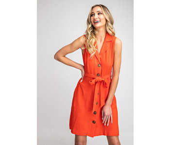EE:Some Belted button front dress