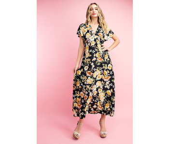EE:Some Floral v-neck midi dress