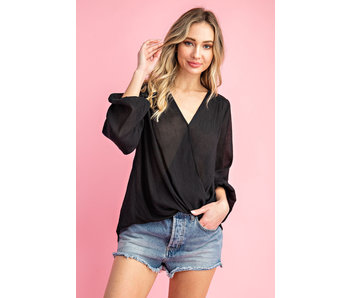 EE:Some Surplice high-low long sleeve top