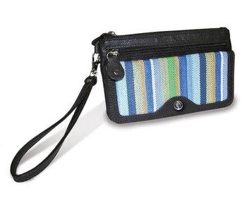 Divinity Striped wristlet