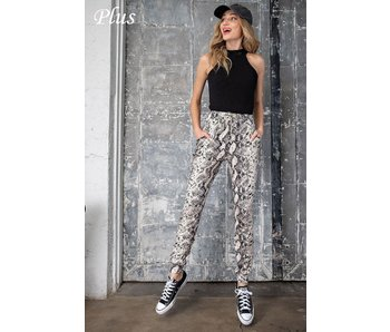 EE:Some Plus size snake print jogger pants