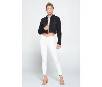 I&M Jean Black Denim Crop Jacket