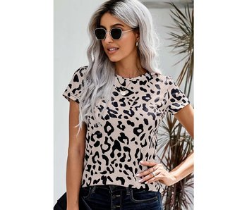 Esley Leopard Print T Shirt