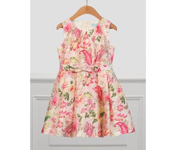 Abel & Lula Abel & Lula soft pink printed floral dress -size 4
