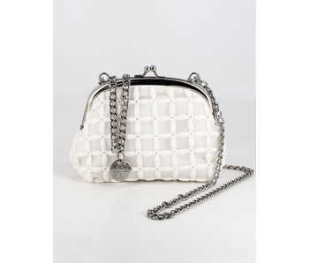 Abel & Lula Abel & Lula Embroidered clutch with chain.