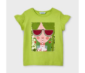 Mayoral Ecofriends Pistachio t-shirt -size 4