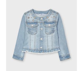 Mayoral Mayoral girls denim jean jacket with bling. -size 4