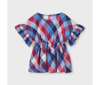 Mayoral Mayoral girls ruffled sleeve blouse