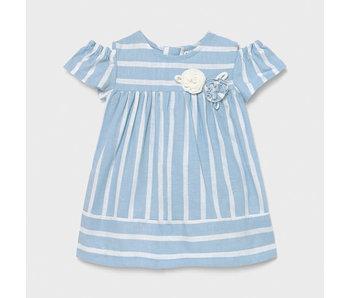Mayoral Mayoral striped blue & white baby dress -size 6M