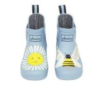 Joules Joules Blue Daisy Bee Wellies - size 10