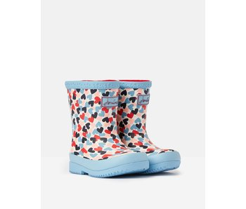 Joules Joules baby rain boots welly print white hearts -size 5