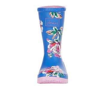 Joules Joules Welly girls rain boot blue floral -size 11