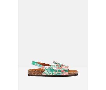 Joules Joules Bayside Bow Slider green ditsy floral -size 11