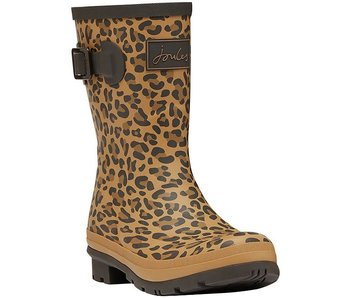 Joules Joules JNR Welly Tan Leopard