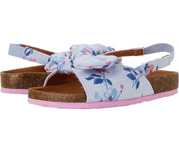 Joules Joules Bayside Bow Slider Blue floral -size 11