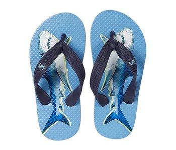 Joules Joules Blue Shark flip flops- size 11