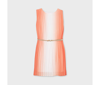 Mayoral Mayoral Pleated bi-color peach dress -size 8Y