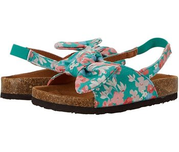 Joules Joules kids bayside bow slider green ditsy floral