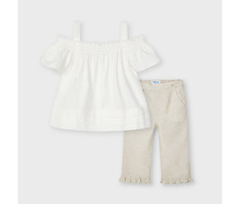 Mayoral Mayoral Linen blouse & pants set -size 4