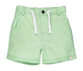 Me & Henry Lime green seersucker shorts -size 6-12M
