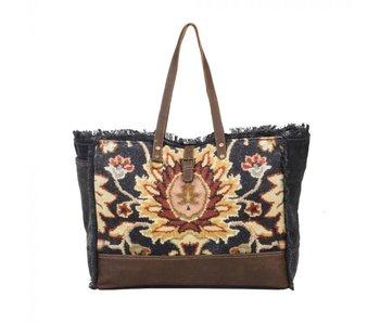 Myra Bags Black Fern Weekender Bag