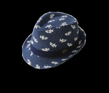 Yumi Boys Fedora Navy Blue Shark hat