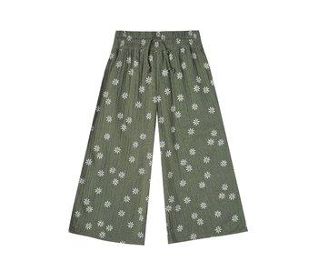 Rylee + Cru Daisy Wide Leg Pant -Fern