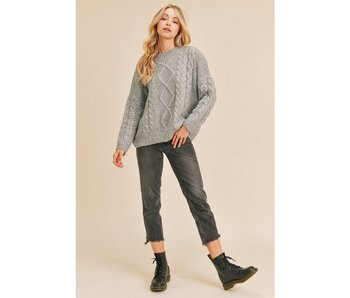 Paper Crane Knitted Pretzel Sweater
